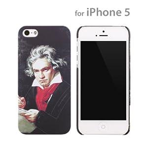 docomo au SoftBank iPhone5 iPhone5S 対応 音楽家 iPhone ケース カバー ジャケット ベートーヴェン