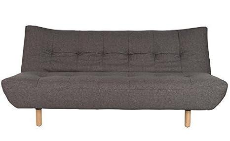 Con diseño de mensaje: Oslo - sofá cama de colour gris - sofá