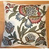 Crewel Pillow Atherton White Cotton Duck (20X20)