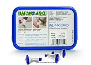 Haemolance(R) and Haemolance(R) Plus Lancets