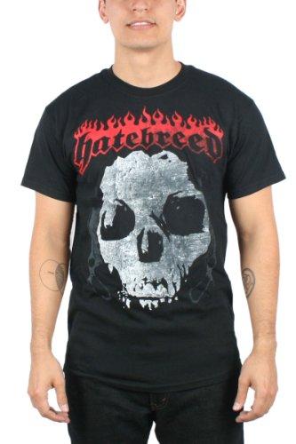 Hatebreed-Maglietta da uomo guidato dalla sofferenza in Nero nero Large