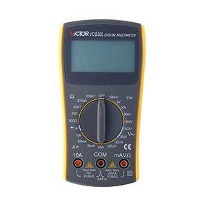 VICTOR VC830L 3 1/2 Multimètre numérique portable 600V AC DC Ohm Voltmètre