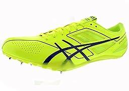 ASICS Men\'s Sonicsprint Track And Field Shoe,Flash Yellow/Deep Blue,9.5 M US