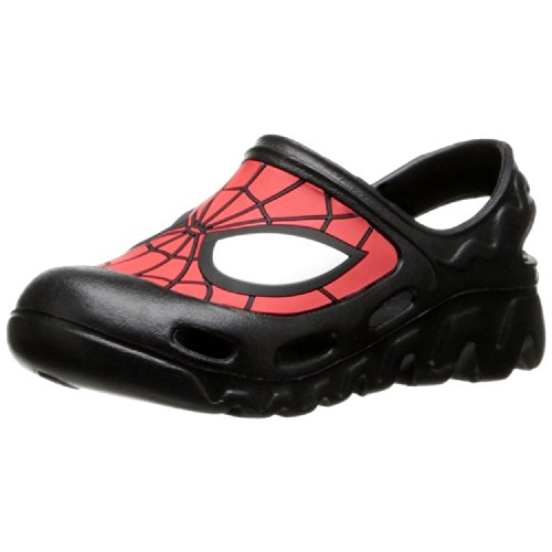 Marvel Boy'S Spider-Man Molded Clog Sandals,Black/Red,10