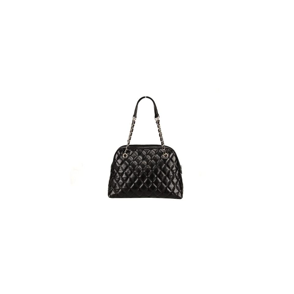 FASH Limited Quilted Bowling Style Chain Strap Handbag, OneSize