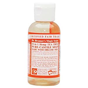 organic castile liquid soap tree tea dr bronner 39 s 2 oz liquid size 2 oz color. Black Bedroom Furniture Sets. Home Design Ideas