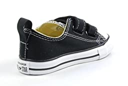 Converse Kids Unisex Chuck Taylor® 2V Ox (Infant/Toddler) Black Sneaker 3 Infant M