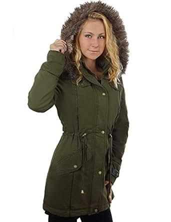 Balingi Shiny Winter jacket with fur hood for women