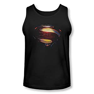 Superman Man of Steel Grungy Shield Tank Top