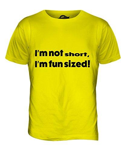 CandyMix I Am Not Short T-Shirt da Uomo Maglietta, Taglia Medium, Colore Giallo Limone