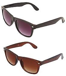 VAMA Wayfarer Sunglasses - COMBO OFFER (7556BPLBR)