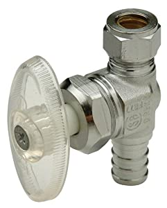 Zurn Pex QQTV60SGXPK1 1/2-Inch by 3/8-Inch Low Lead Straight Stop Valve