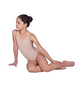 Child Seamless Camisole Undergarment Leotard ,N234CNUDM,Nude,Medium