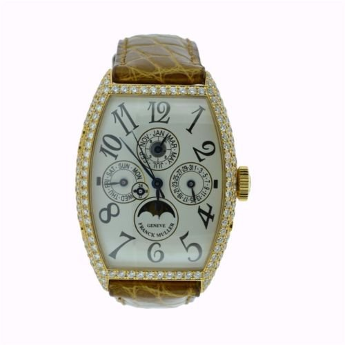 Franck Muller Cintree Curvex Automatic 18K Rose Gold Watch 5850 QP D
