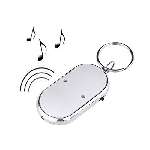 Docooler LED Key Finder Locator Find Lost Keys Chain Keychain Whistle Sound Control (Key Chain With Sound Locator compare prices)