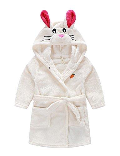 LUKYCILD Baby Girl Boy Cartoon Coral Fleece Bathrobe Cute Pajamas Sleepwear