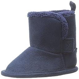Gerber Cozy Faux Suede Winter Boot (Infant),Navy,3 M US Infant