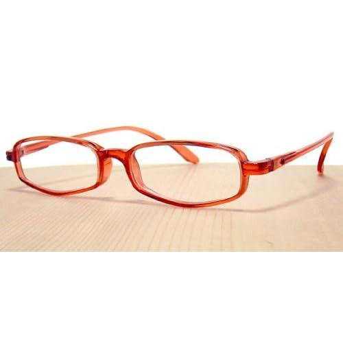 純日本製 やわらかシニアグラス(老眼鏡)SABAE シリーズ【サンセット・レッド】鯖江製メガネ・JAPAN 度数:+1.00