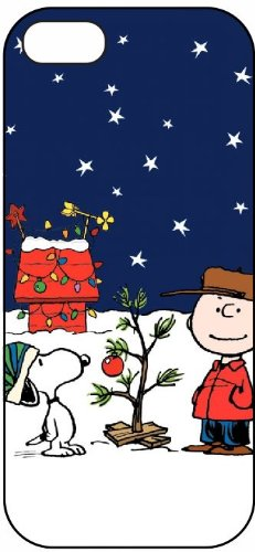 Charlie Brown and Snoopy, Christmas, 5040 iPhone 5 Protective Hard Plastic Case Cover