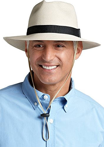 Coolibar UPF 50 Mens Packable Travel Fedora Sun Protective