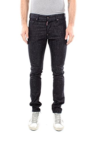 Jeans Dsquared2 Uomo Cotone Blu Denim S74LA0691S30457470 Blu 52