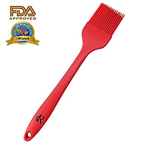 RC Food-Grade Heat-Resistant Silicone Sauce Brush Basting Pastry & BBQ Oil Brush, Bakeware Tool and Culinary Utensil for Baking Frying Cooking by Calans