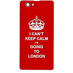 Skin4gadgets I CAN'T KEEP CALM I'm GOING TO LONDON - Colour - Red Phone Skin for SONY XPERIA Z1