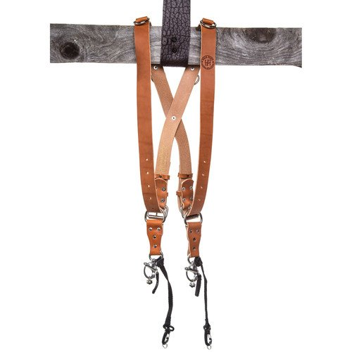 HoldFast Gear Money Maker Two-Camera Harness (English Bridle, Tan, Regular)