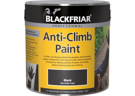 Blackfriar Anti Climb and Anti Vandal Paint Black - 1 Litre