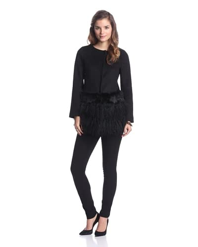Ada Outerwear Women's Jaimie Coat with Fur Skirt