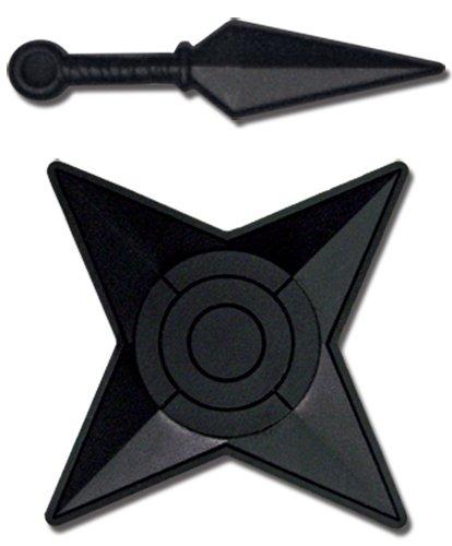 Naruto Shippuden: Kunai Knife and Shuriken Weapon PVC Anime Pin Set