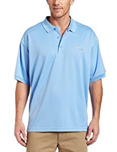 Columbia Men's Perfect Cast Polo, Light Blue, Large