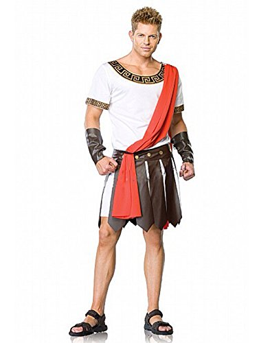 HDE Men's Julius Caesar Roman Warrior Tunic Halloween Costume Party Outfit