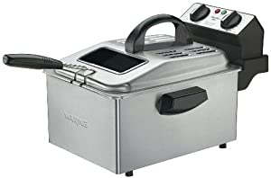 Waring DF250B 1800-Watt Deep Fryer, Brushed Stainless