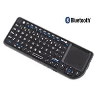 New OEM RII Mini Bluetooth Wireless Keyboard - Compatible With Apple IPad, PC, and Mac - Features Built-in Touchpad Mouse and Laser Pointer -