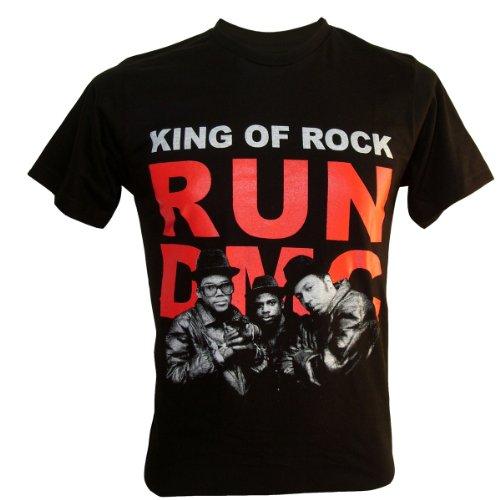 Lectro Men'S Run Dmc Hip Hop King Of Rapper T-Shirt Black Large
