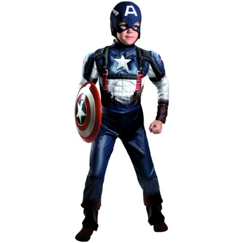 Captain America Muscle Classic Costume - Large
