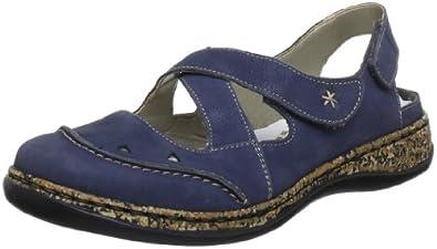 Rieker Womens Rieker Damen Slipper Daisy Slingback Blue Blau (lake 14) Size: 36