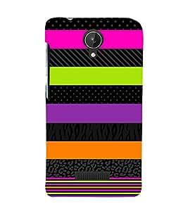 Colorful Art Pattern 3D Hard Polycarbonate Designer Back Case Cover for Micromax Canvas Spark Q380
