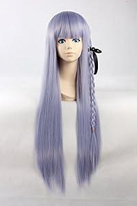 80cm Lolita perruque ršŠsistant š€ la chaleur de longue perruque droites Violet Avec 1 Braid