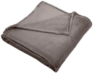 Pinzon Velvet Plush Blanket, Full/Queen, Grey