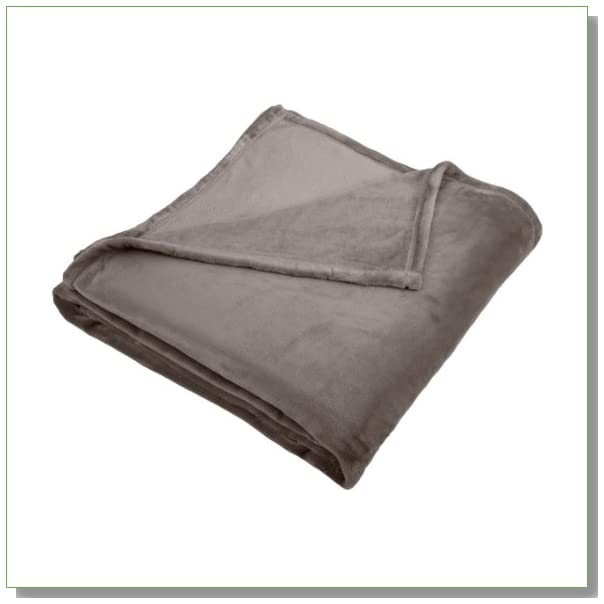 Pinzon Velvet Plush King Blanket, Gray