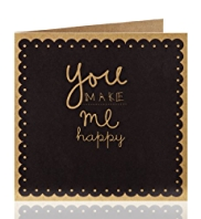 "Love to Design ""You make me Happy"" Greetings Card"
