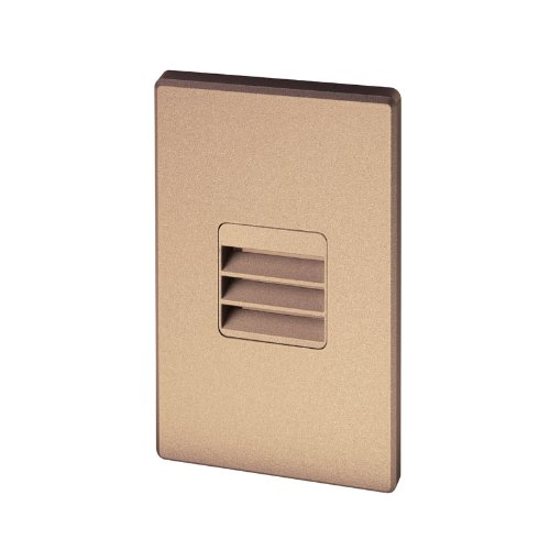 Juno Lighting Group Lmsw-3K-L-Bz Led Louver Optic Outdoor Wet Location 3W 120V 3000K Dimmable Mini Step Light, Bronze Textured Finish
