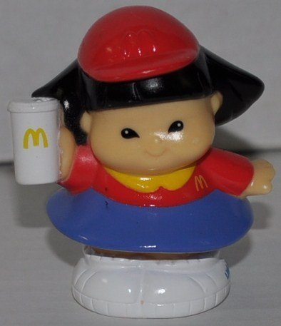Little People McDonalds Sonya Lee Employee (2004) McD - Replacement Figure Accessory - Classic Fisher Price Collectible Figures - Loose Out Of Package & Print (OOP) - Zoo Circus Ark Pet Castle - 1