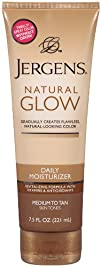 Jergens Glow Daily Moisturizer Med to Tan 7.5 Ounce