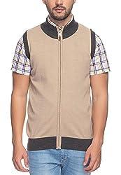 Raymond Men's Woolen Sweater (8907252535125_RMWY00448-H5_39_Khaki)