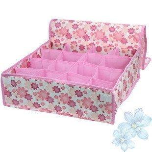 Pliable Rose Chaussettes soutien-gorge sous-vêtements/cravate Tiroirs Boîte rangement organiseur