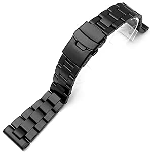 22mm Super Oyster Watch Bracelet, Straight End PVD Black Version