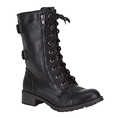 SODA Dome Womens Boots, Black, 5.5